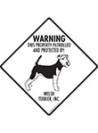 Welsh Terrier! Property Patrolled Signs and Sticker