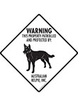 Australian Kelpie! Property Patrolled Signs and Sticker