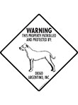Dogo Argentino! Property Patrolled Signs and Sticker