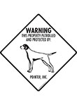 Pointer! Property Patrolled Signs and Sticker