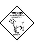 Boykin Spaniel! Property Patrolled Signs and Sticker