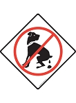 No Dog Pooping Signs or Sticker