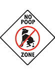 No Dog Poop Zone Signs and Sticker