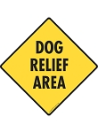 Dog Relief Area - Potty Area Signs and Sticker