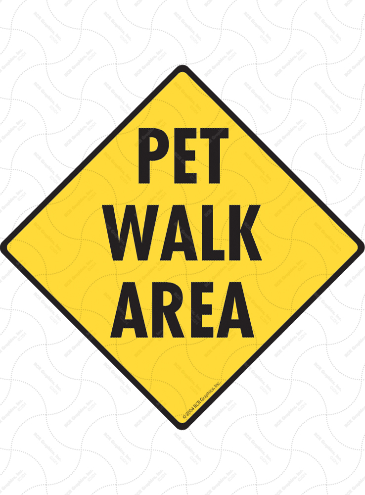 Pet Walk Area Signs and Sticker