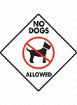 No Dogs Allowed Signs and Sticker