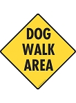 Dog Walk Area Signs and Sticker