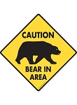 Caution! Bear In Area Signs and Sticker
