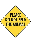 Please Do Not Feed the Animal Signs and Sticker