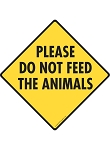 Please Do Not Feed the Animals Signs and Sticker