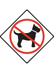 No Dog Allowed (Symbol) Signs