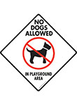 No Dogs Allowed in Playground Area Signs