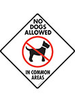 No Dogs Allowed in Common Areas Signs