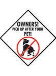 Pick Up After Your Pet Dog Poop Signs and Sticker