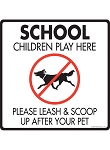 School Children Play Here Signs