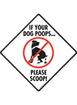If Your Dog Poops, Please Scoop Dog Poop Signs and Sticker