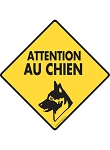 Attention Au Chien (No Dogs Allowed) Signs and Sticker