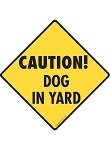 Caution! Dog in Yard Signs and Sticker