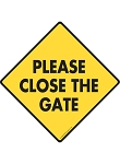 Please Close the Gate Signs and Sticker
