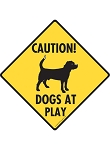 Caution! Dogs at Play Signs