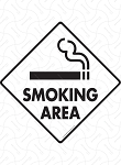 Smoking Area Signs and Sticker
