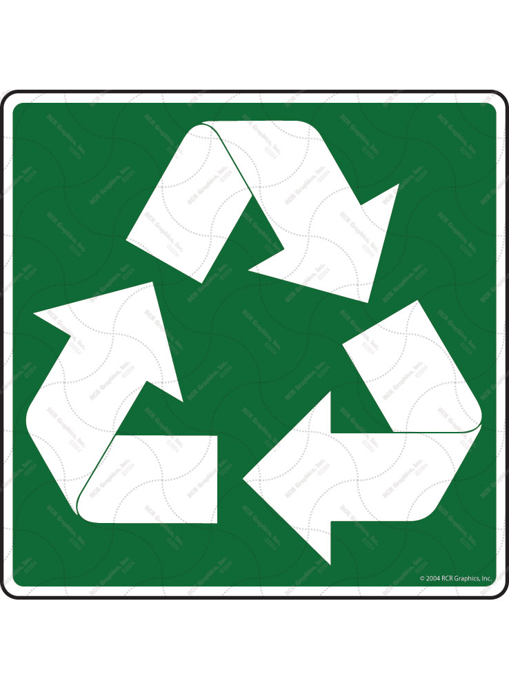 Recycle Symbol Signs or Sticker - Square