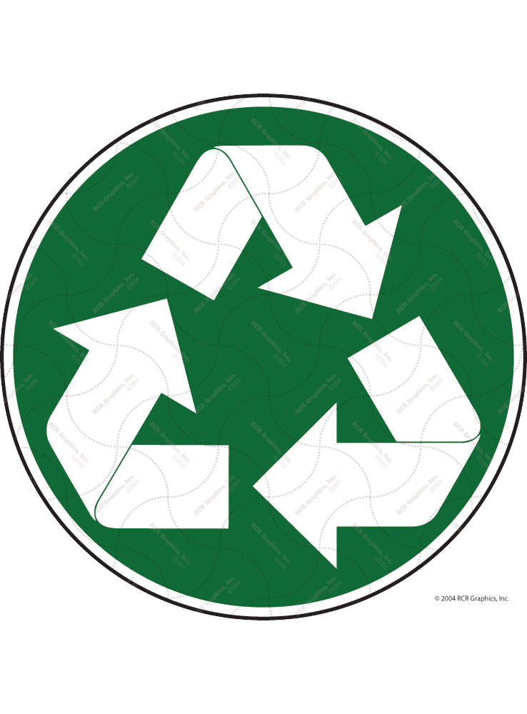 Recycle Symbol Signs or Sticker - Circle