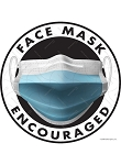 Face Mask Encouraged Signs or Sticker