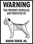 Border Terrier! Property Patrolled Sign - 9