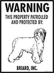 Briard! Property Patrolled Sign - 9