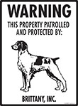 Brittany! Property Patrolled Sign - 9