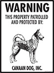 Canaan Dog! Property Patrolled Sign - 9