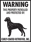 Curly-Coated Retriever! Property Patrolled Sign - 9