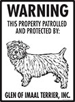Glen of Imaal Terrier! Property Patrolled Sign - 9