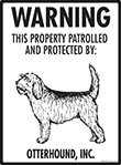 Otterhound! Property Patrolled Sign - 9