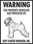 Soft Coated Wheaten Terrier! Property Patrolled Sign - 9