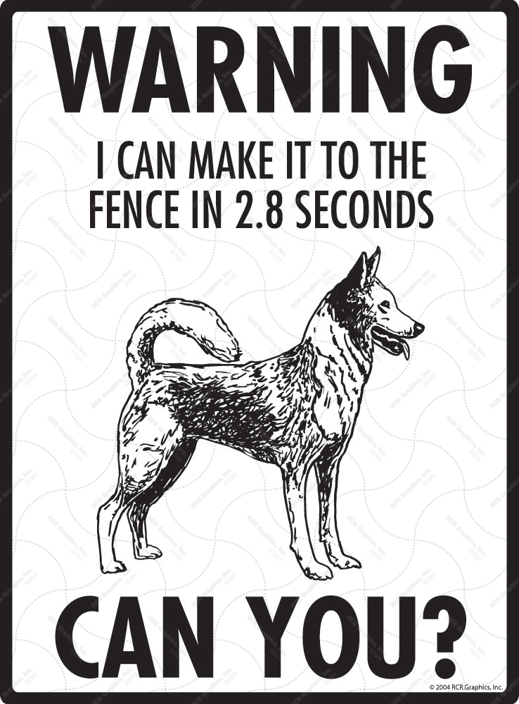Warning! Canaan Dog Fence Signs - 9