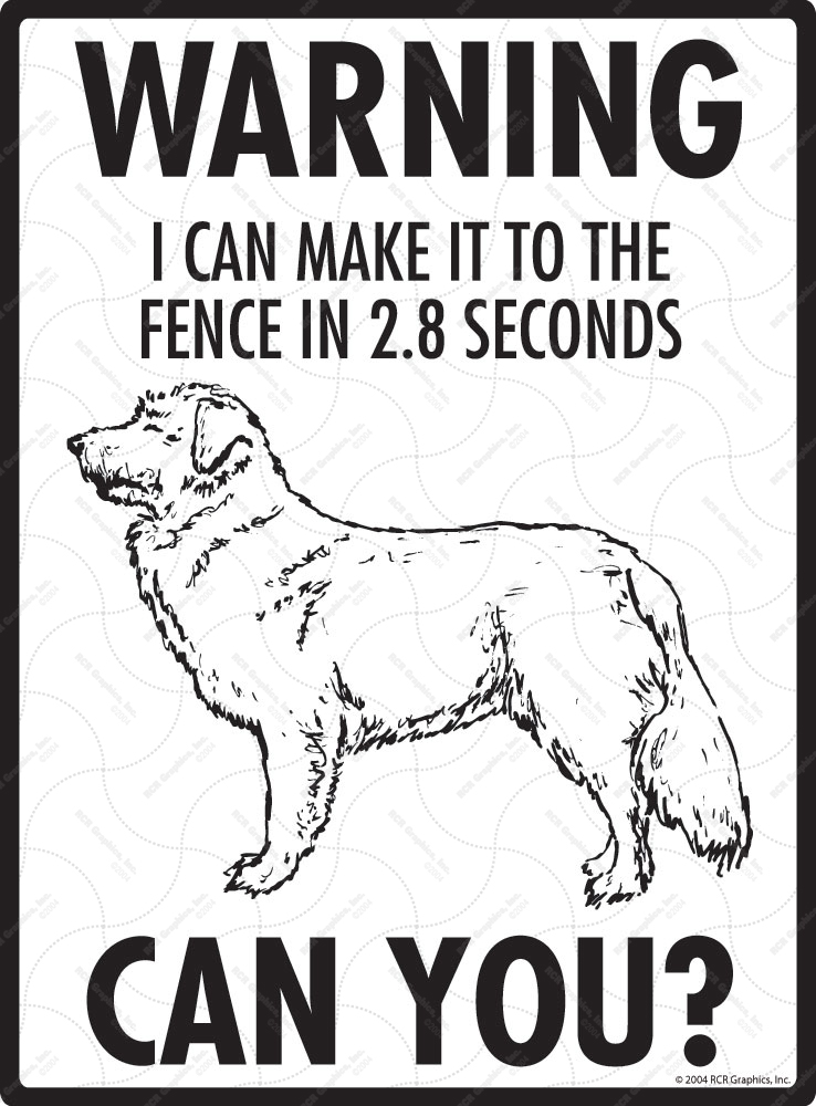 Warning! Nova Scotia Duck Retriever Tolling Fence Signs
