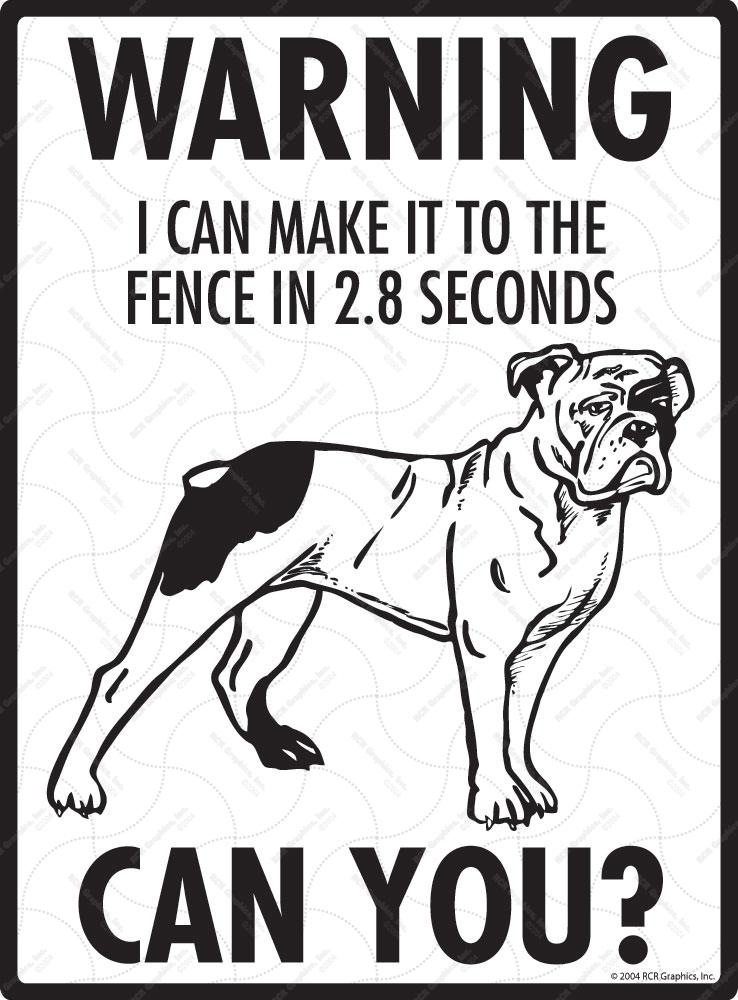 Warning Olde English Bulldogge Fence Dog Signs 9 Quot X 12 Quot