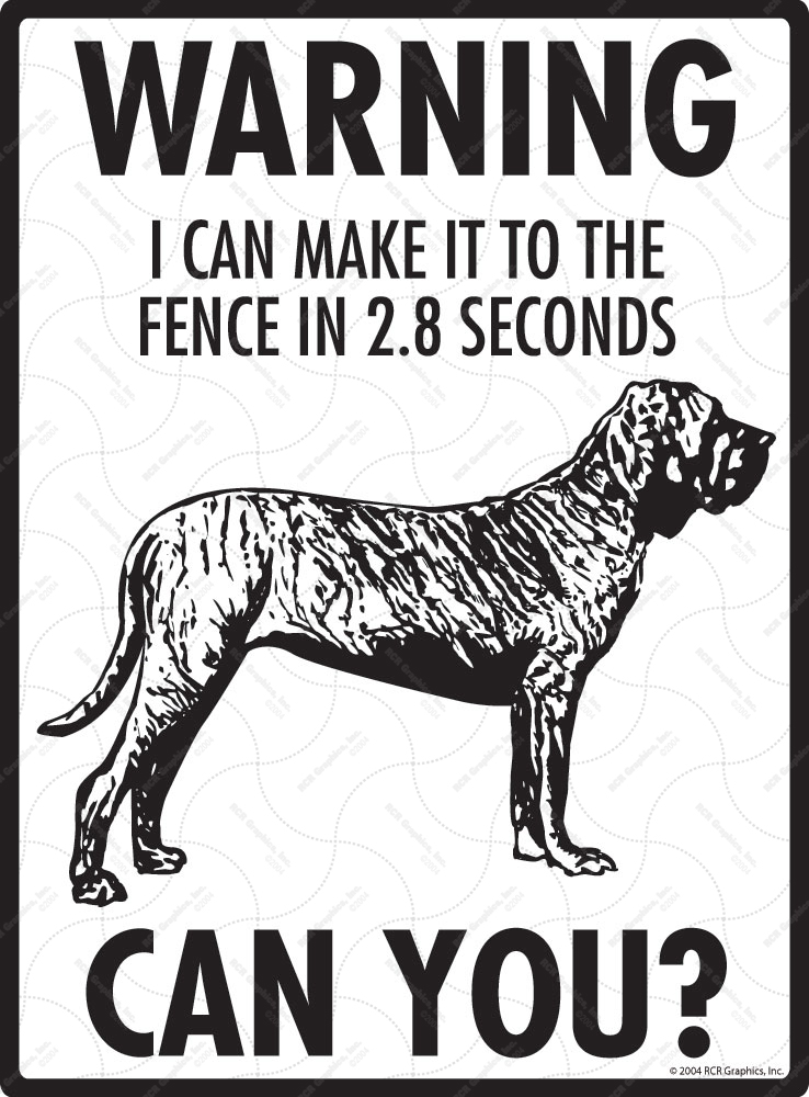 Warning! Brazilian Mastiff Fence Signs - 9
