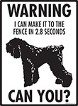 Warning! Black Russian Terrier Fence Signs - 9