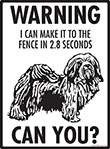 Warning! Havanese Fence Signs - 9
