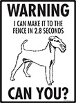 Warning! Irish Terrier Fence Signs - 9