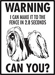 Warning! Lhasa Apso Fence Signs - 9