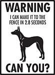 Warning! Pharaoh Hound Fence Signs - 9
