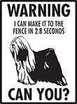 Warning! Tibetan Terrier Fence Signs - 9