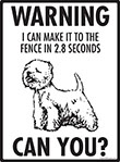 Warning! Westie Fence Signs - 9