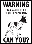 Warning! American Hairless Terrier Fence Signs - 9