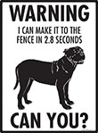 Warning! Presa Canario Fence Signs - 9