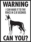 Warning! Ibizan Hound Fence Signs - 9